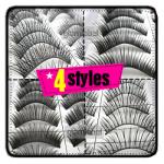 8 пар натуральных ресниц в 4х стилях