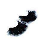 Драматические черные ресницы из перьев