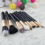 10 Makeup Cosmetic Brushes Set